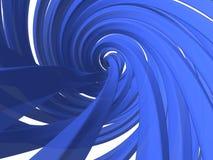 Dynamic blue fibre vector illustration