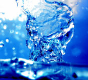 Dynamic Blue Wave Background Royalty Free Stock Photography