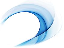 Dynamic blue wavy motion Royalty Free Stock Images