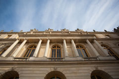 Dynamic Building Palace of Versailles. Dynamic building photo looking up to the sky in Palace of Versailles Royalty Free Stock Photos