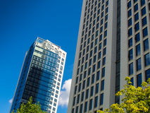 Dynamic business buildings in Frankfurt, Germany Royalty Free Stock Photography