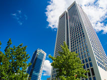 Dynamic business buildings in Frankfurt, Germany Stock Image