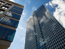 Dynamic business buildings in Frankfurt, Germany Royalty Free Stock Image