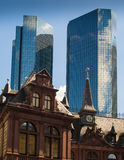 Dynamic business buildings in Frankfurt, Germany Stock Photography