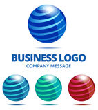 Dynamic Business Globe Logo Royalty Free Stock Photos