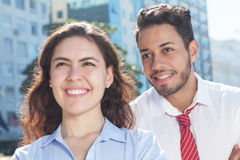 Dynamic business team in the city Stock Photo