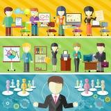 Dynamic business team vector illustration