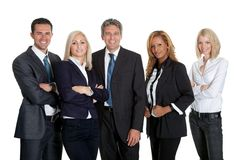 Dynamic business team on white background Royalty Free Stock Images