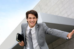 Dynamic businessman Stock Image