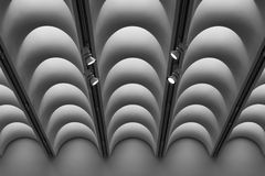 Dynamic Ceiling. Abstract architectural shot of an interesting ceiling royalty free stock photo