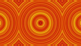 Dynamic circle shapes. Abstract animated kaleidoscope circles. Reducing image of circles in yellow-orange color scheme
