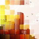 Dynamic cityscape in brown Stock Photo