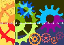 Dynamic colorful vector background Stock Images