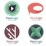 Dynamic Corporate Brand. Bold and dynamic vector logo Royalty Free Stock Images
