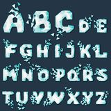 Dynamic crumble font Royalty Free Stock Images