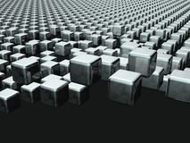 Dynamic cube floating background. 3d illustration Royalty Free Stock Image
