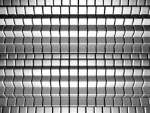 Dynamic cube silver background. 3d illustration Royalty Free Stock Images