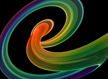 Dynamic curves. Multicolored dynamic curves - abstract high quality render royalty free illustration