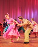 Dynamic dancing teenagers Royalty Free Stock Photos