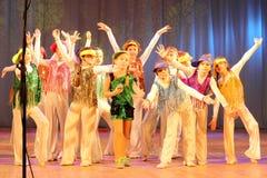 Dynamic dancing teenagers Stock Photo