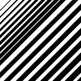 Dynamic diagonal lines pattern. Parallel straight lines with irr. Egular width. Gradation, halftone background - Royalty free vector illustration Royalty Free Stock Images
