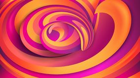 Abstract geometric background. Violet and orange spirals. Dynamic effect Swirl shapes. stock illustration