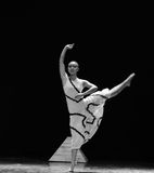 Dynamic-Errand into the maze-Modern dance-choreographer Martha Graham. In December 19, 2014, Shi Feifei the dancer dance work session held in the South hall. His Royalty Free Stock Images