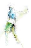 Dynamic Fashion Figure Royalty Free Stock Photography