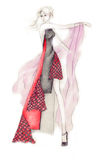 Dynamic Fashion Illustration Royalty Free Stock Photography