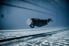Dynamic Without Fins (DNF) Performance from Underwater Royalty Free Stock Photo