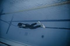 Dynamic Without Fins (DNF) Performance from Underwater Stock Image