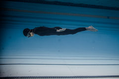 Dynamic Without Fins (DNF) Performance from Underwater Stock Photo