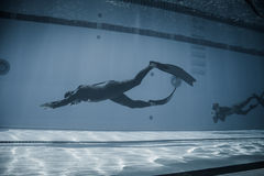 Dynamic With Fins (DYN) Performance from Underwater Stock Image