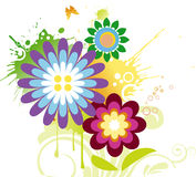 Dynamic flower design royalty free illustration