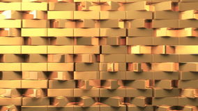 Dynamic golden triangle bricks wide wall stock footage