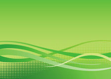 Dynamic Green Background. Green swoosh and halftone textured background Stock Photos