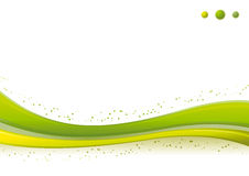 Dynamic green Wave/Points background template. Royalty Free Stock Images