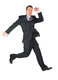 Dynamic happy businessman Royalty Free Stock Photos