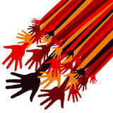 Dynamic happy hands design Stock Images