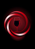 Dynamic icon for red wine Royalty Free Stock Photo