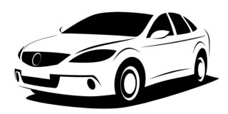 Free Dynamic Illustration Of A Modern Aerodynamic Car Which Can Be Used As A Logo Royalty Free Stock Images - 188326819