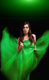 Dynamic image of a beautiful woman shot Royalty Free Stock Photos