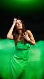 Dynamic image of a beautiful woman shot Royalty Free Stock Photography