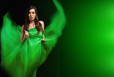 Dynamic image of a beautiful woman shot Stock Photo