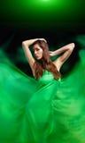 Dynamic image of a beautiful woman shot Royalty Free Stock Photo