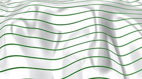 Green curved lines on the horizont. Royalty Free Stock Photos