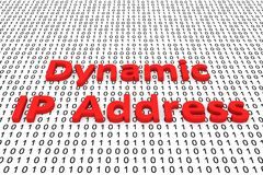 Dynamic IP Address. As a binary code 3D illustration Royalty Free Stock Photo