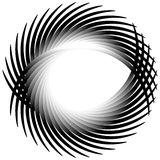 Dynamic irregular lines forming a circle element. Geometric shap Royalty Free Stock Photo
