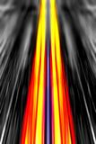 Dynamic light beams background. Dynamic red and yellow light beams on a black and white background Stock Photos