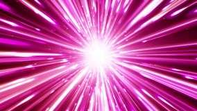 Dynamic light tunnel. Bright lines quickly move away from us. Looped. Bright lines are moving away from us. Lines of light form a dynamic bright tunnel in space stock footage